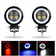 Additional LED headlights. LED fog lights Led additional. headlight 20W HJG (4 CREE Led)