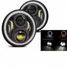 7 inch led headlights niva vaz