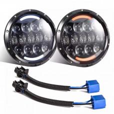 105 watts Price for 1 piece Headlights Led Niva 2121-21213 Taiga UAZ 469 GAZ 24, VAZ 2101, Hummer, FJ Cruiser, w463