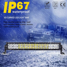 56cm 120w 5D curved Price for 1 piece Headlights Led Niva 2121-21213 Taiga UAZ 469 GAZ 24, VAZ 2101, Hummer, FJ