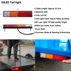 LED brake light / turn signals / dimensions / led tail light trailer automotosvet trailer lights