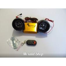 Motorcycle alarm + MRZ with block