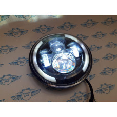 7 Inch Universal LED DRL Headlight with Angel Eyes