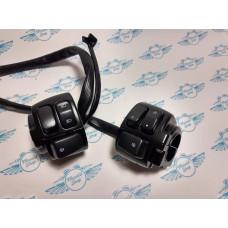 Harley Black motorcycle handlebar controls